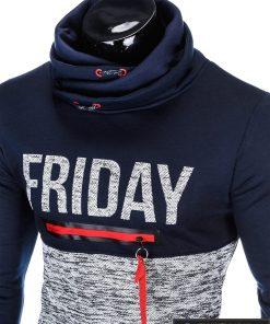 stilingas Tamsiai mėlynas vyriškas džemperis