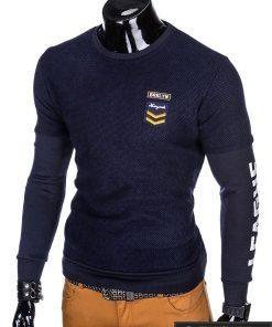 """stilingas Tamsiai mėlynas vyriškas džemperis su užrašais ant rankovių""""Rey"""" internetu pigiau"""
