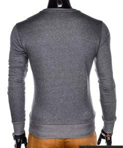 vienspalvis Tamsiai pilkas vyriškas džemperis