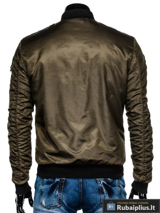 """stilinga Bomber stiliaus Chaki rudeninė-pavasarinė vyriška striukė vyrams """"Darvin"""" internetu pigiau"""
