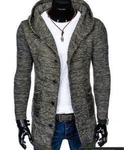 """Stilingas kardiganas prailgintas chaki vyriškas megztinis vyrams """"Krid"""" internetu pigiau"""
