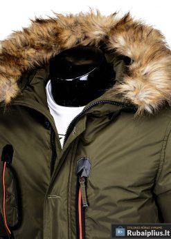 """C369CH, ALASKA tipo PARKA Chaki žieminė vyriška striukė vyrams """"Goslin"""" internetu pigiau"""