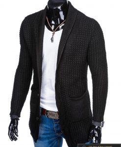 """Stilingas KARDIGANAS Klasikinis prailgintas juodas vyriškas megztinis vyrams """"Gordon"""" internetu pigiau"""