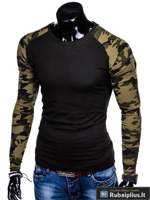 """L107J, Juodi-kamufliažiniai vyriški marškinėliai ilgomis rankovėmis vyrams """"Tailer"""" internetu pigiau"""