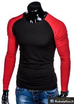 """L109J, Juodi-raudoni vyriški marškinėliai ilgomis rankovėmis vyrams """"Jed"""" internetu pigiau"""
