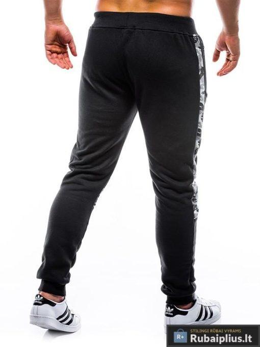 """P767J, vyriškos kamufliažinės Juodos sportinės kelnės vyrams """"Bufo"""" internetu pigiau"""