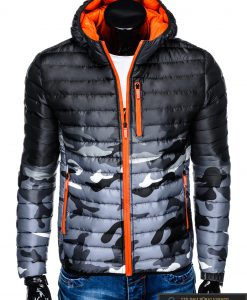 """stilinga Kamufliažinė pilka rudens-pavasario vyriška striukė vyrams """"Fure"""" internetu pigiau"""
