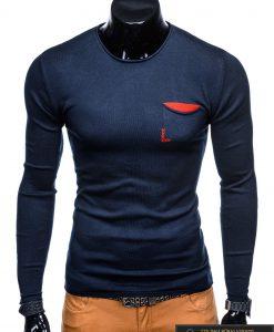 """Madingas tamsiai mėlynas vyriškas megztinis vyrams """"Keso"""" internetu pigiau"""