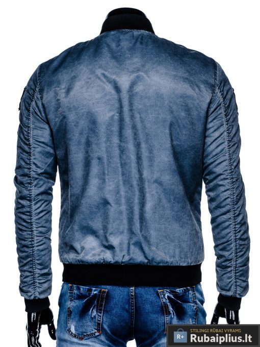 """stilinga Bomber stiliaus Mėlyna rudeninė-pavasarinė vyriška striukė vyrams """"Darvin"""" internetu pigiau"""