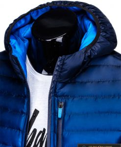 """stilinga Tamsiai mėlyna rudens-pavasario vyriška striukė vyrams """"Fure"""" internetu pigiau"""