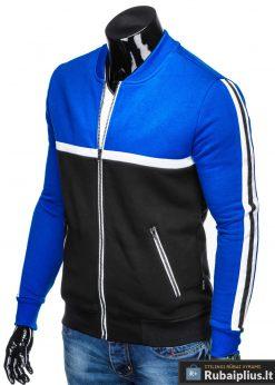 "B704M, Stilingas Mėlynas-juodas vyriškas džemperis vyrams ""Glim"" internetu pigiau"