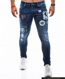 """Vyriški MadingiMėlyni džinsai vyrams su aplikacijomis """"Dilan"""" internetu pigiau"""