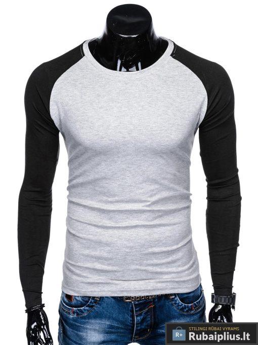"""L109P, Pilki-juodi vyriški marškinėliai ilgomis rankovėmis vyrams """"Jed"""" internetu pigiau"""