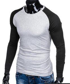 L109P, Pilki-juodi vyriški marškinėliai ilgomis rankovėmis vyrams