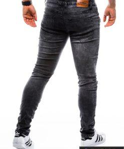 P751J, stilingi vyriški Siaurinti juodi džinsai vyrams
