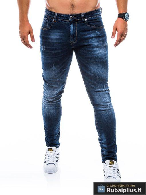 """P750TM, stilingi vyriški siaurinti tamsiai mėlyni džinsai vyrams""""Askold"""" internetu pigiau"""