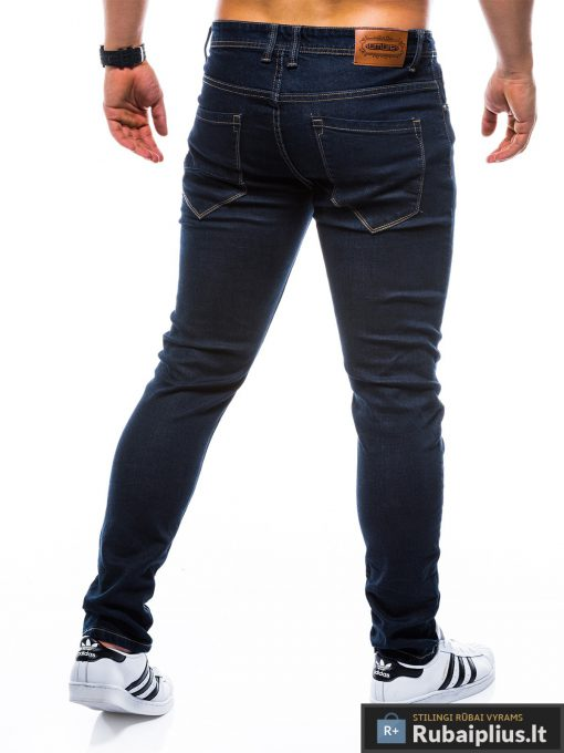 """P752TM, stilingi vyriski Siaurinti tamsiai mėlyni džinsai vyrams""""Minor"""" internetu pigiau"""