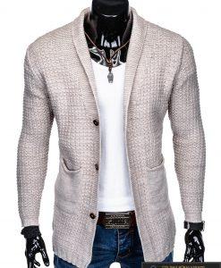 """Stilingas KARDIGANAS Klasikinis prailgintas smėlio spalvos vyriškas megztinis vyrams """"Gordon"""" internetu pigiau"""