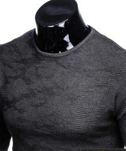 Stilingas tamsiai pilkas vyriškas megztinis vyrams