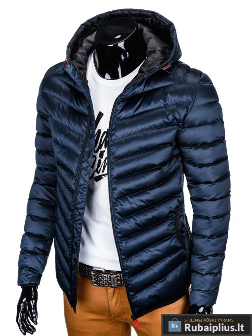 """stilinga Tamsiai mėlyna rudens-pavasario vyriška striukė vyrams """"Elen"""" internetu pigiau"""