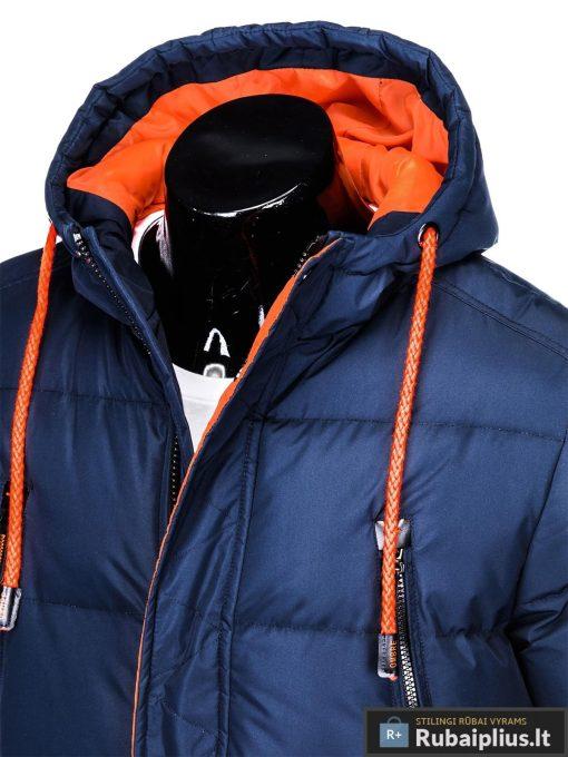 """C383TM, Tamsiai mėlyna žieminė vyriška striukė vyrams """"Avanes"""" internetu pigiau"""