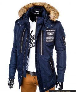 "ALASKA tipo PARKA Tamsiai mėlyna žieminėvyriška striukė ""Colector"" internetu pigiau"