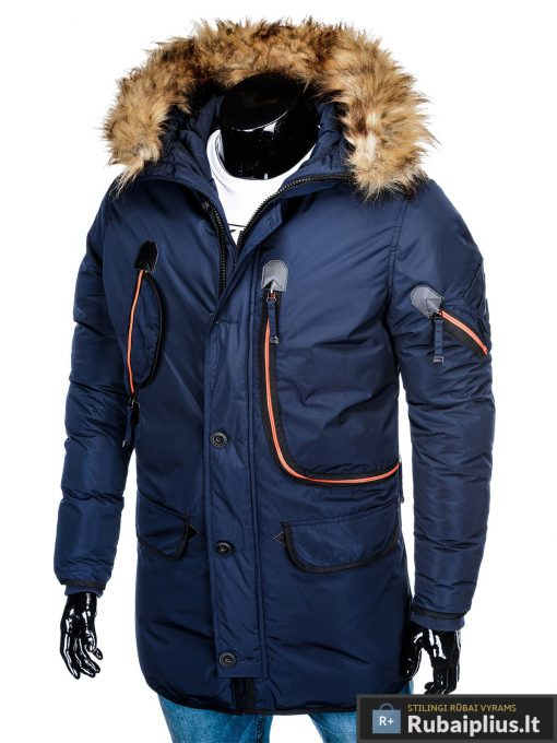 "C369TM, ALASKA tipo PARKA Tamsiai mėlyna žieminė vyriška striukė vyrams ""Goslin"" internetu pigiau"