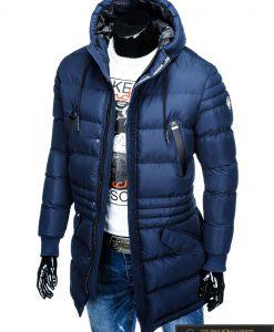 """stilinga Tamsiai mėlyna žieminėvyriška striukė vyrams """"Vucan"""" internetu pigiau"""