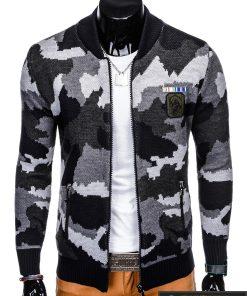 """Stilingas tamsiai mėlynas-pilkas Kamufliažinis vyriškas megztinis vyrams """"Hardi"""" internetu pigiau"""