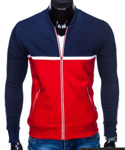 """B704TM, Stilingas Tamsiai mėlynas-raudonas vyriškas džemperis vyrams """"Glim"""" internetu pigiau"""