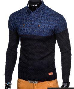 Stilingas tamsiai mėlynas vyriškas megztinis vyrams