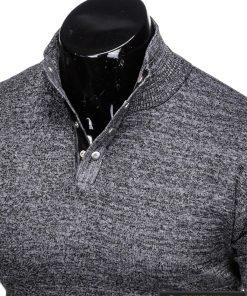 Stilingas tamsiai pilkas vyriškas megztinis