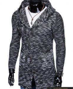 """Stilingas kardiganas prailgintas tamsiai pilkas vyriškas megztinis """"Krid"""" internetu pigiau"""
