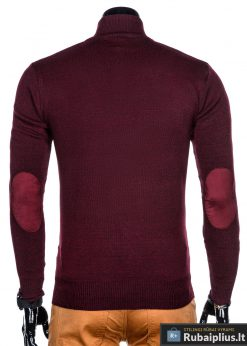 Stilingas Tamsiai raudonas vyriškas megztinis vyrams