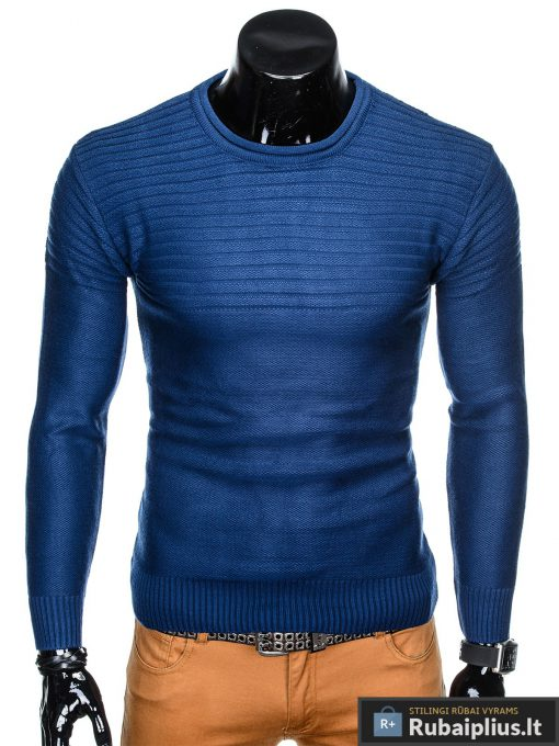 """madingas Vienspalvis mėlynas vyriškas megztinis vyrams """"Gvido"""" internetu pigiau"""