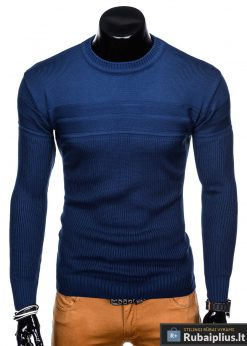 madingas Vienspalvis mėlynas vyriškas megztinis vyrams