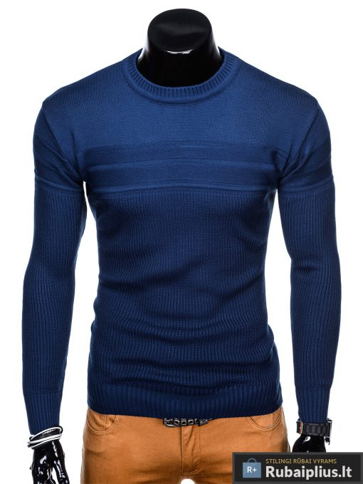 vienspalvis-melynas-vyriskas-megztinis-miko-E130-1