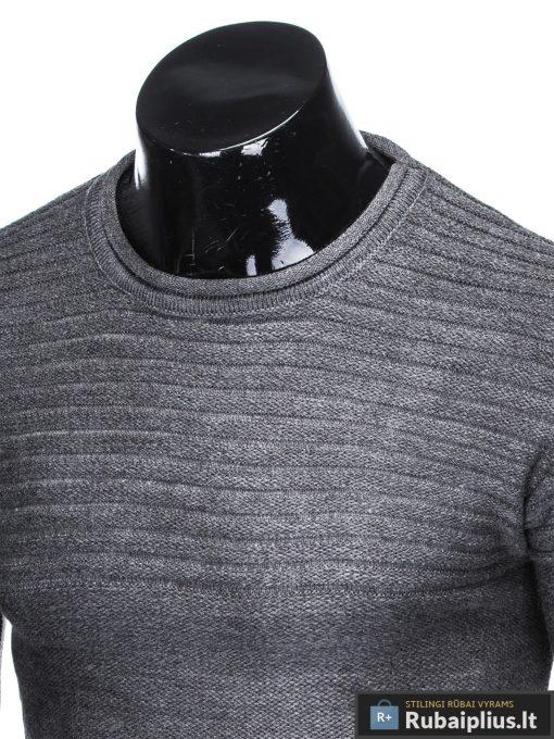 """madingas Vienspalvis tamsiai pilkas vyriškas megztinis vyrams """"Gvido"""" internetu pigiau"""