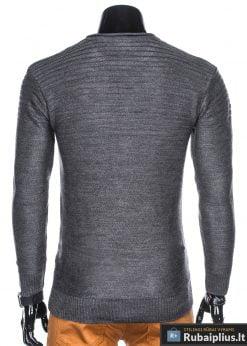 madingas Vienspalvis tamsiai pilkas vyriškas megztinis vyrams