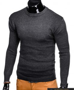 """Vienspalvis tamsiai pilkas vyriškas megztinis vyrams """"Moder"""" internetu pigiau"""