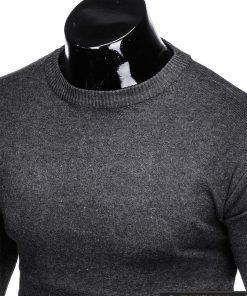 Vienspalvis tamsiai pilkas vyriškas megztinis vyrams