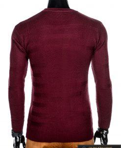 madingas Vienspalvis tamsiai raudonas vyriškas megztinis vyrams