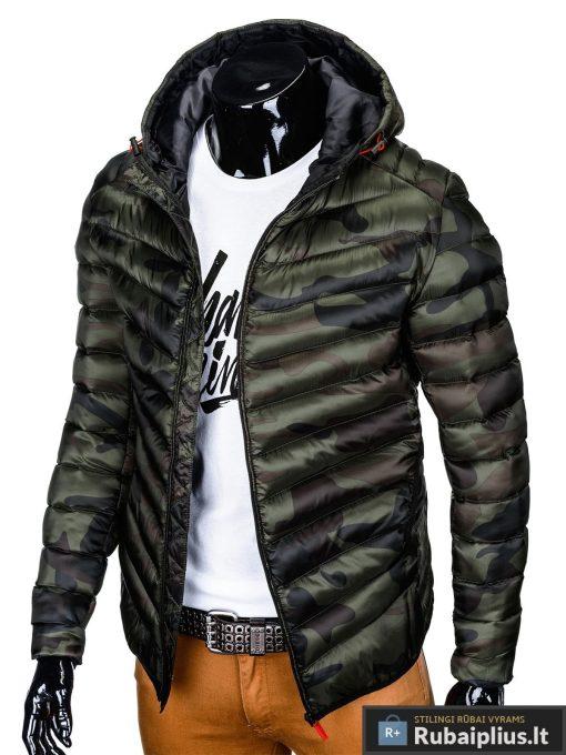 """stilinga Žalia-kamufliažinė rudens-pavasario vyriška striukė vyrams """"Elen"""" internetu pigiau"""