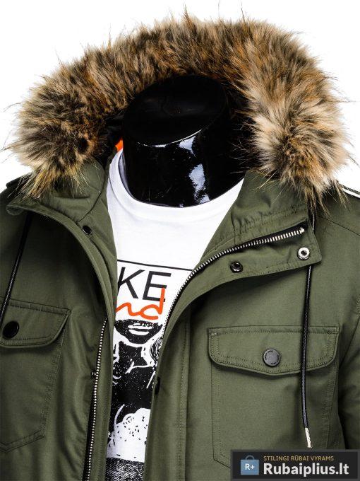 "C382CH, ALASKA tipo PARKA zalia Chaki žieminė vyriška striukė vyrams ""Ritorn"" internetu pigiau"