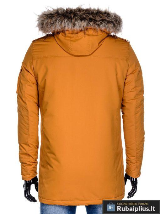 """C382MUST, ALASKA tipo PARKA Geltona žieminė vyriška striukė vyrams """"Ritorn"""" internetu pigiau"""