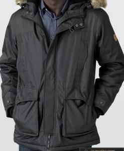 "KS13382JCH, ALASKA tipo PARKA Juoda-chaki didelių dydžių žieminė vyriška striukė vyrams ""LOVETT"" internetu pigiau"