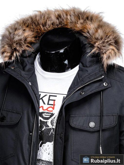 """C382J, ALASKA tipo PARKA Juoda žieminė vyriška striukė vyrams """"Ritorn"""" internetu pigiau"""