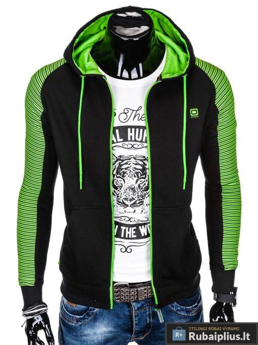 """B820J, madingas Juodas vyriškas džemperis su gobtuvuvyrams """"Treksis"""" internetu pigiau"""
