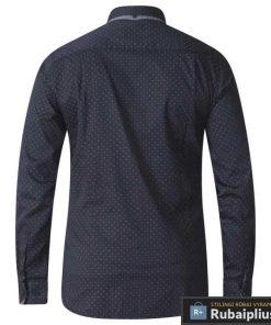 KS11191J, stilingi Juodi taškuoti didelių dydžių vyriški marškiniai vyrams ilgomis rankovėmis