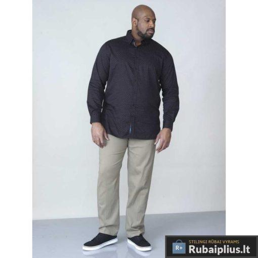 """KS11191J, stilingi Juodi taškuoti didelių dydžių vyriški marškiniai vyrams ilgomis rankovėmis """"JAHINE"""" internetu pigiau"""